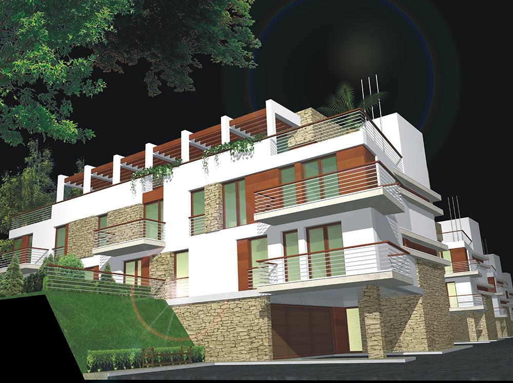 "Forest Hill Natura ""Residential Park, Pusztakút II. phase – Architecture: Lamro Ltd."