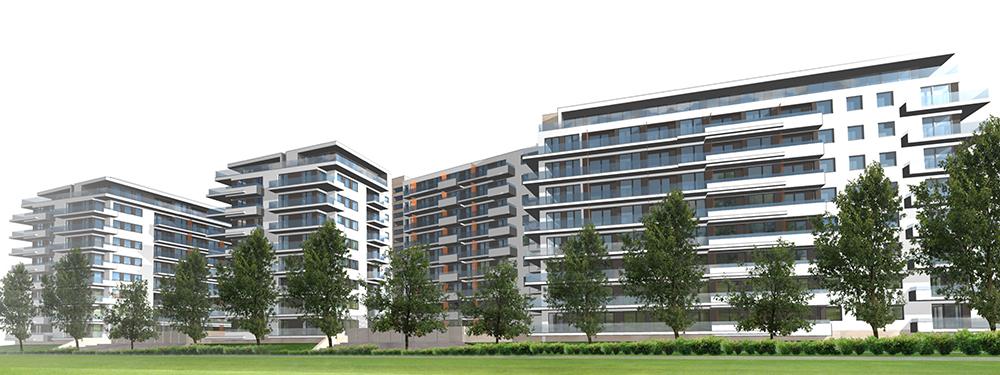 """""""Marina Garden"""" lakópark – Építészet: Lamro Kft."""