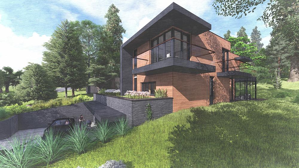 Pilisvörösvár – Családi ház – Építészet: Lovass Anna  – Tervezés alatt